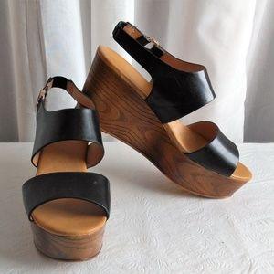"Aldo ""Piaclya"" Wedge Sandal Size 10 in Black"